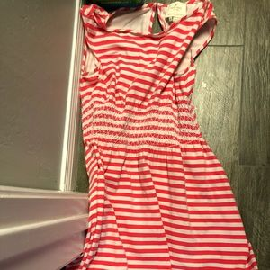 Kate Spade A Line Dress Coral & White Small